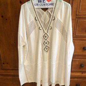 Free People Embellished Tunic - XL